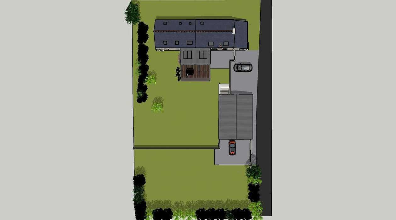 Démolition d''un appentis pour extension de maison + Construction de garage - Ploeuc l''Hermitage (22) 01