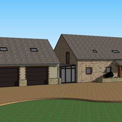 extension de maison pour creation d un double garage