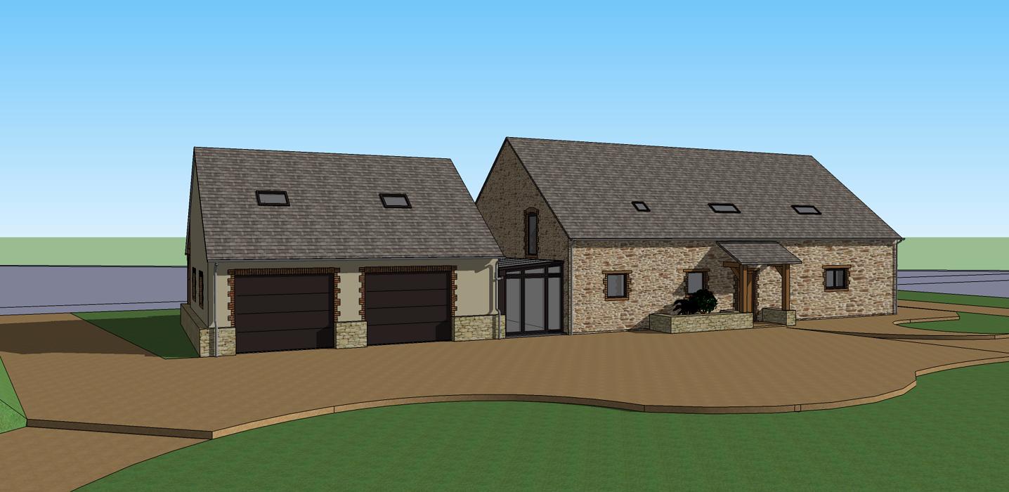 Extension de maison pour création d''un double garage 0