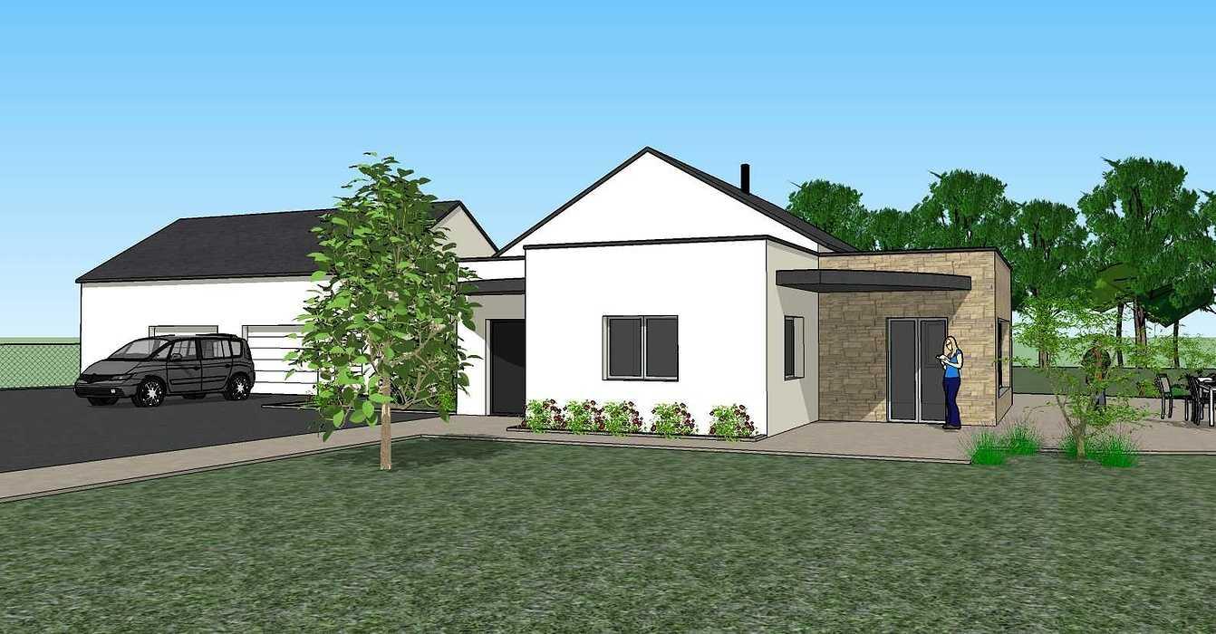 Création une maison d'habitation à Loudéac (22) Architecte : Isabelle Guillemin vue33d07.12.18