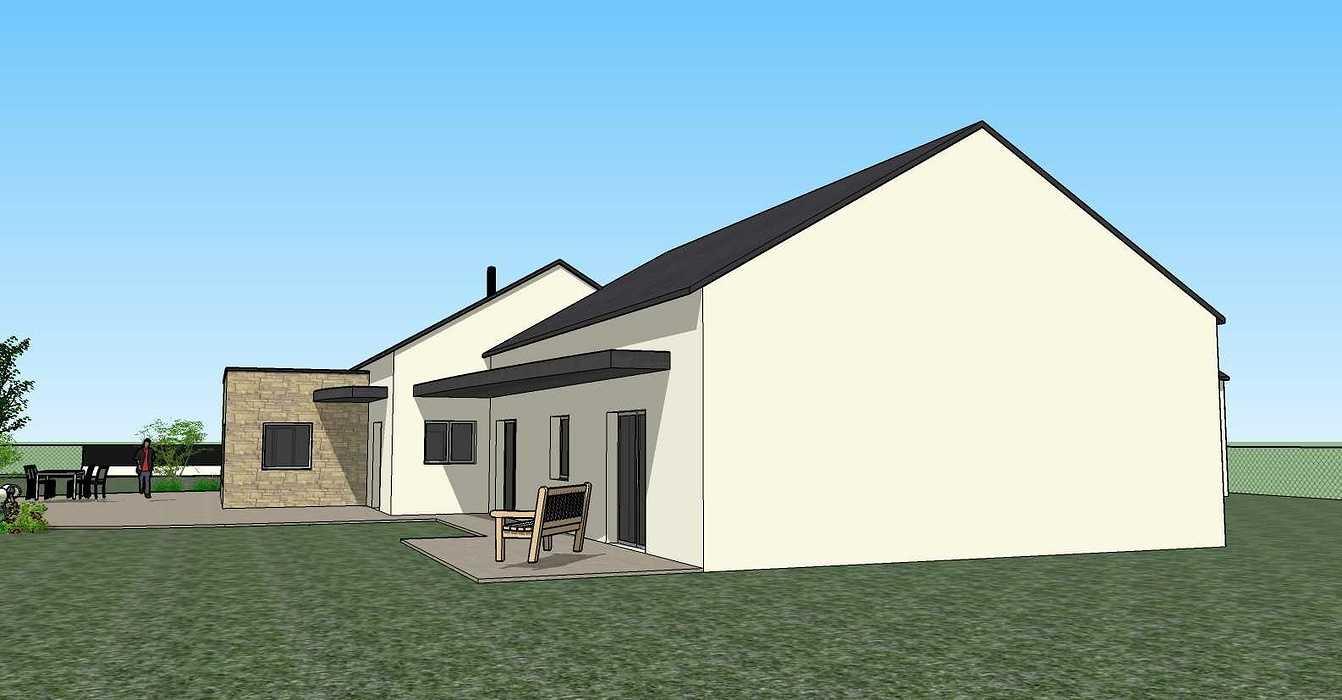 Création une maison d'habitation à Loudéac (22) Architecte : Isabelle Guillemin vue73d07.12.18