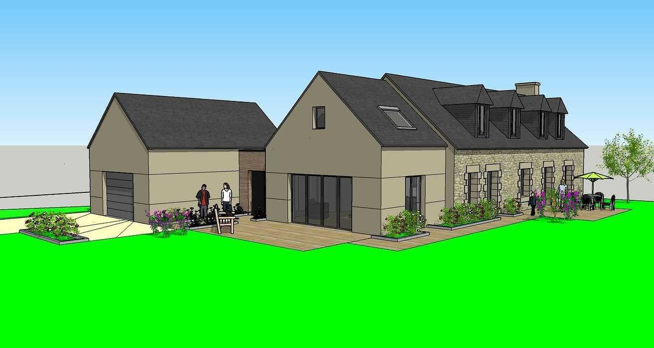 Rénovation d''une maison à Loudéac (22) vue2005.04.19